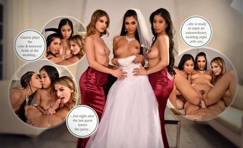 Nunta de weekend cu Gianna Dior & Bridesmaids porno 2019. 10